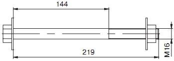 SB 16.219 Специальный болт  для монтажа ОК «8»  и ОКСН КРОНШТЕЙНЫ ДЛЯ КРЕПЛЕНИЯ ОПТИЧЕСКОГО КАБЕЛЯ