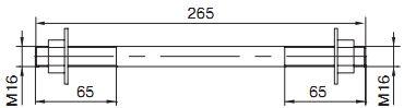 MSH 16.265 Монтажная шпилька  для монтажа ОК «8»  и ОКСН КРЕПЛЕНИЯ ОПТИЧЕСКОГО КАБЕЛЯ