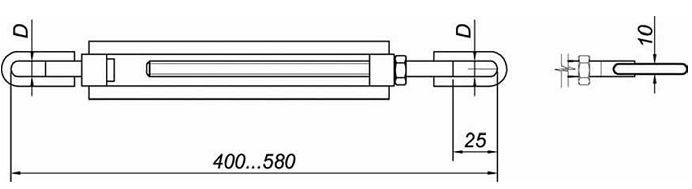 Талреп Т-30-01 Элементы крепления ОК